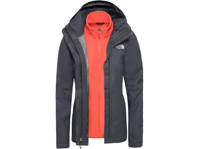 newest 8eb38 d0c5d The North Face Evolve II Triclimate Jacket Damen vanadis grey/radiant orange